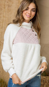 Pretty in Pink Button Pullover