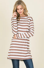 Taupe Stripped Shirt