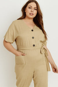 Gloria Taupe Jumpsuit