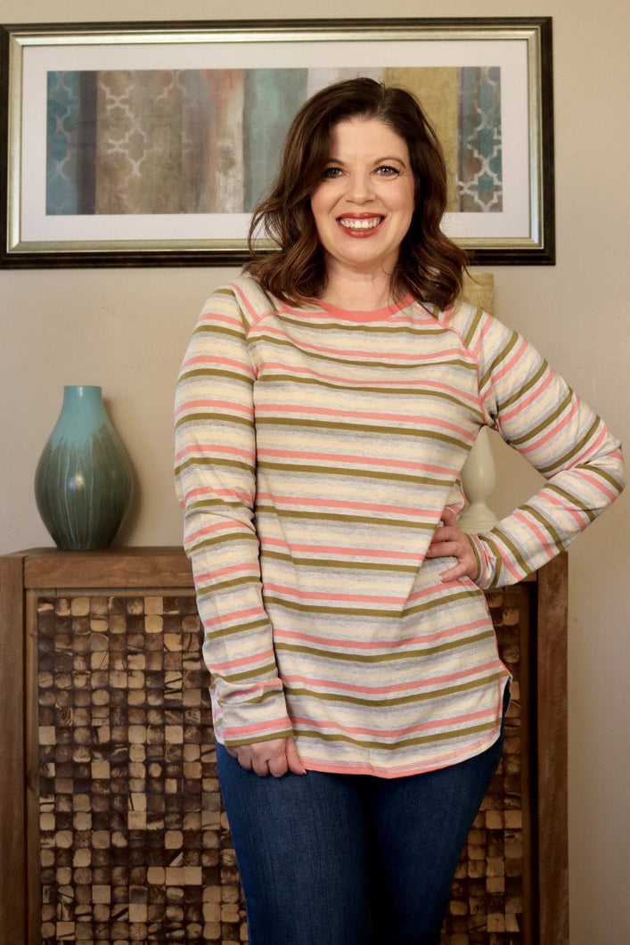 Stripes On Stripes Long Sleeve Tee