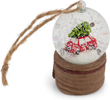 Bringing Home The Christmas Tree Snow Globe Ornament