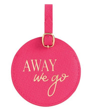 Away We Go Pink Luggage Tag