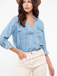 Madison Bay Chambray Top