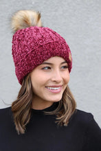 Panache Fleece Lined Knit Beanie Ruby Red