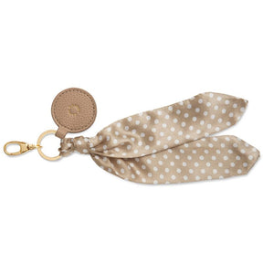 Taupe Spot Carrie Scarf Keyring Bag Charm