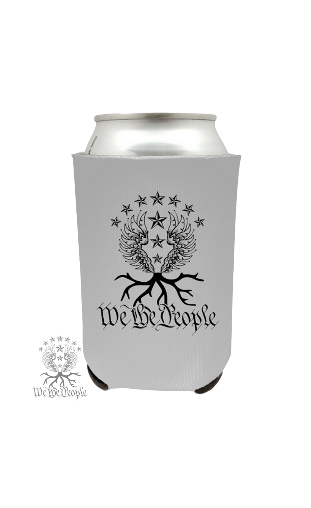 We the People Beer Koozie | Grey