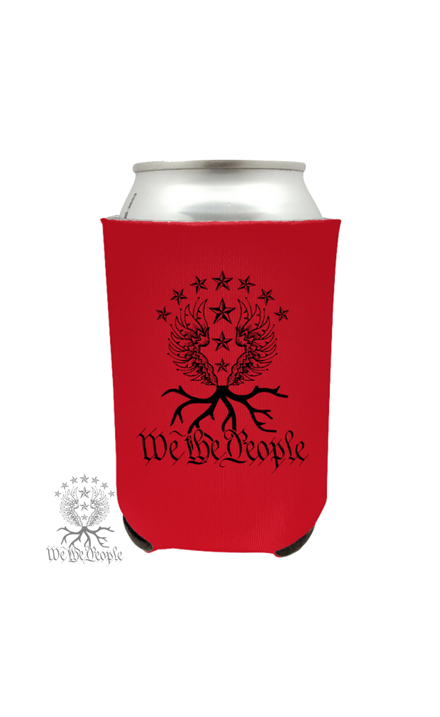 We the People Beer Koozie | Red