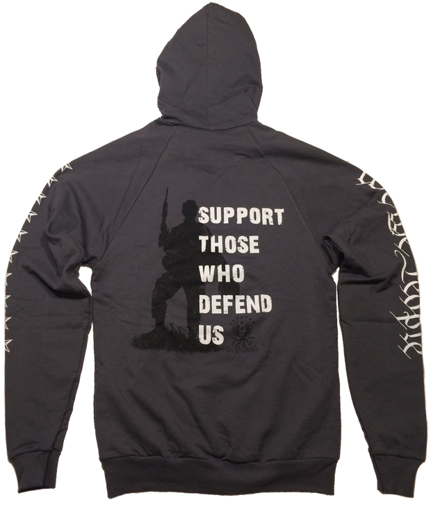 Support Those Who Defend Us Hoodie| Asphalt