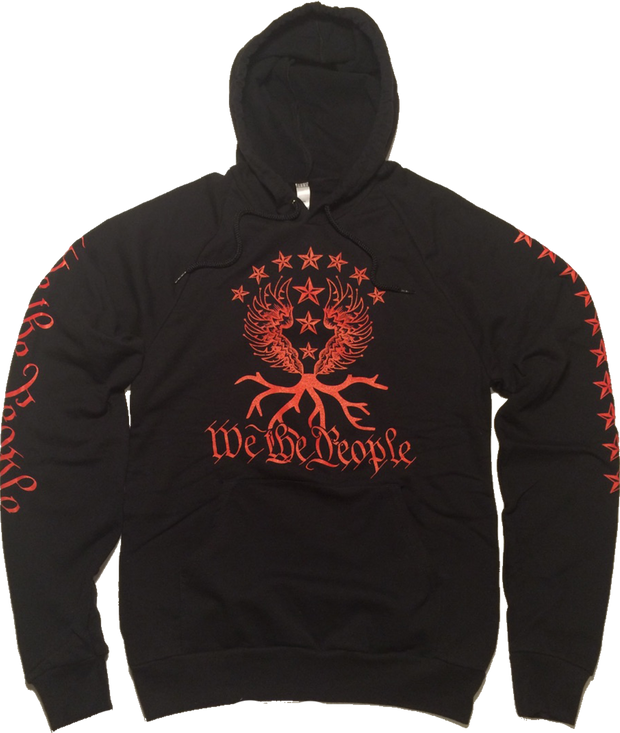 We the People Hoodie | Black&Red