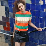 The Missy Tee - Knitted T-Shirt - Route13
