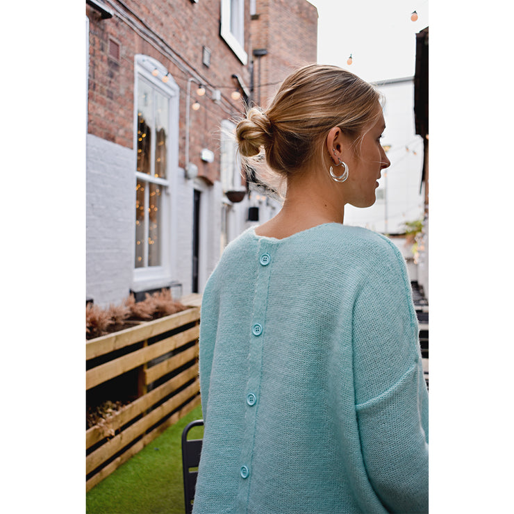 The Bella Button Back Jumper - Jumper - Route13