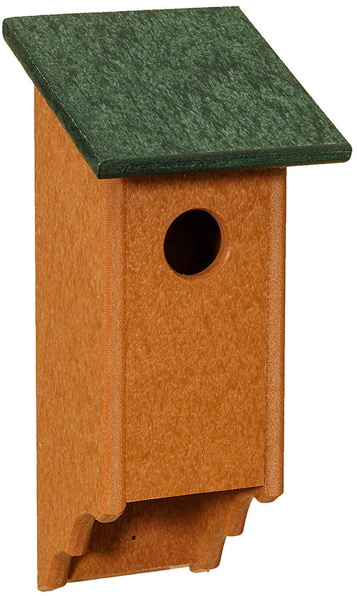 Eco Friendly Poly Bluebird House with Scalloped Cedartone Base