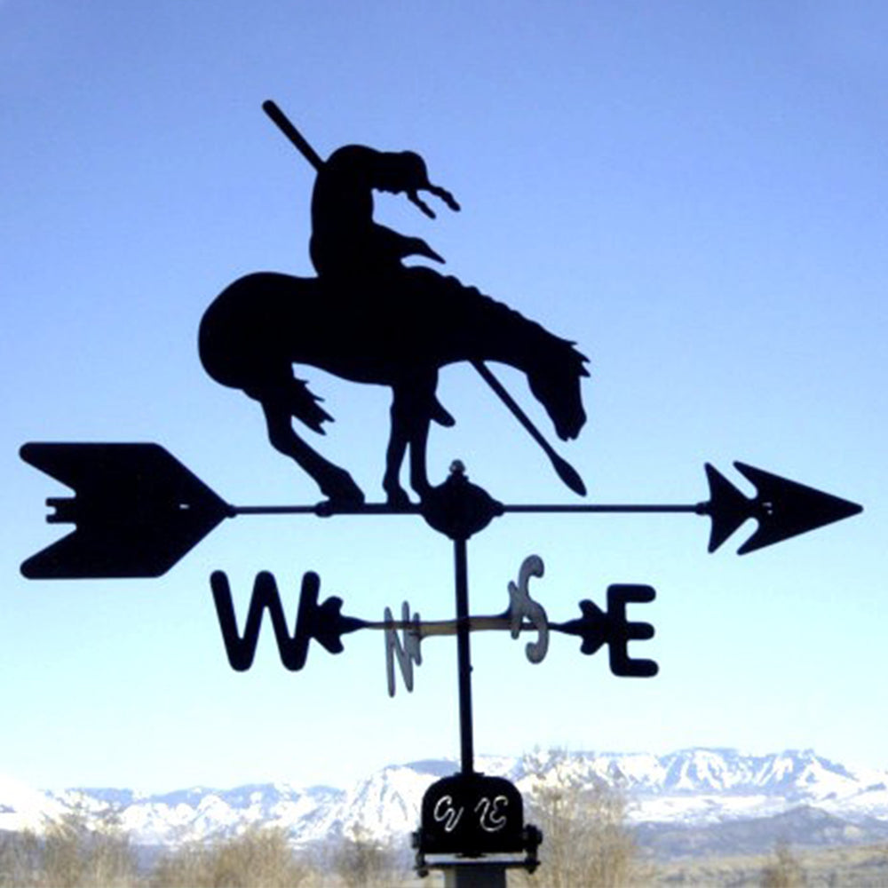 End of the Trail Silhouette Steel Weathervane