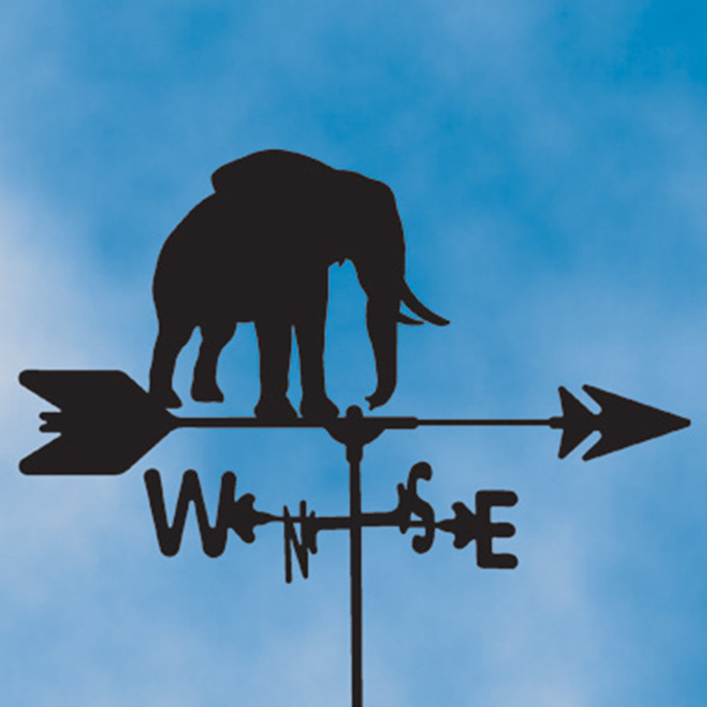 Elephant Silhouette Steel Weathervane