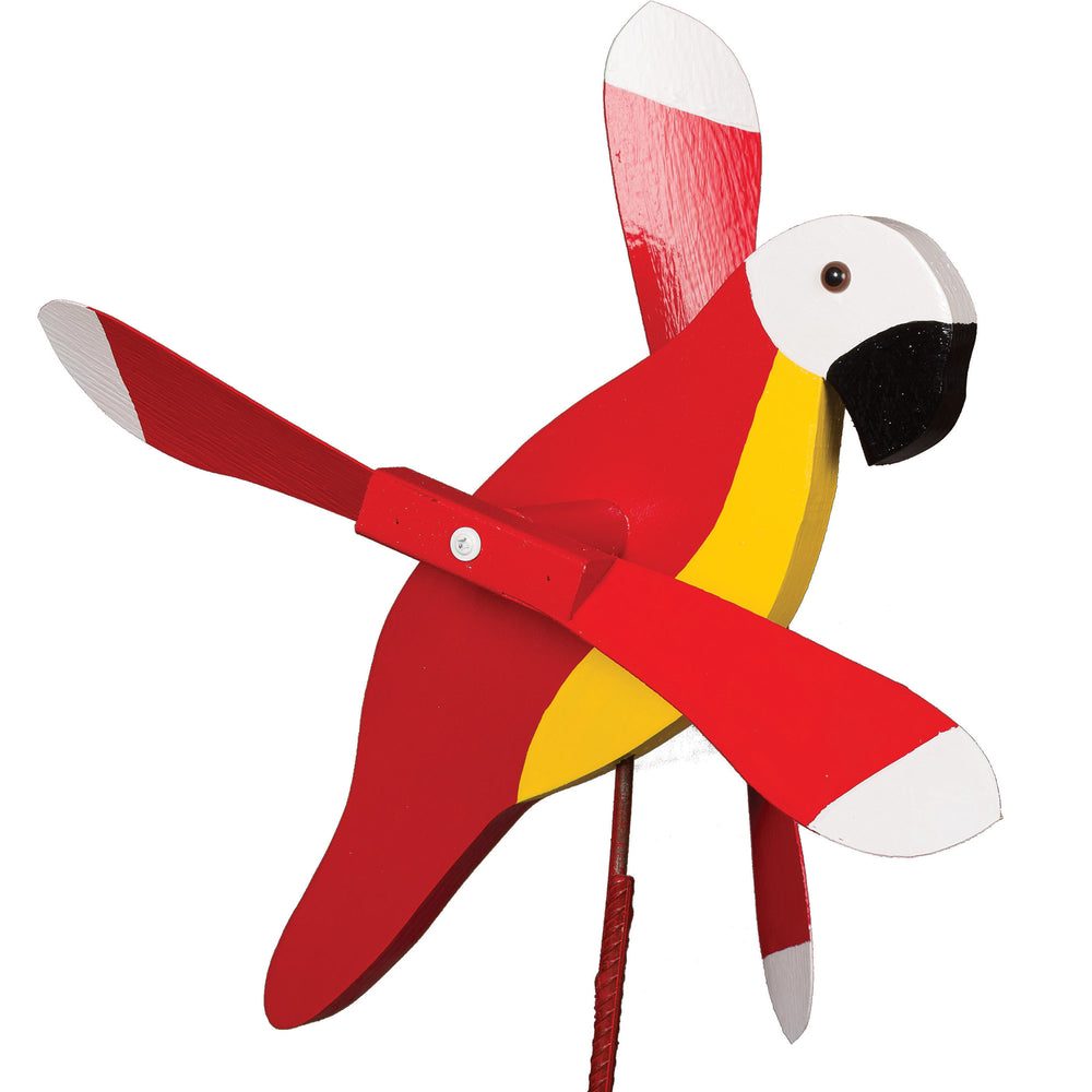 Red Parrot Whirlybird Wind Spinner