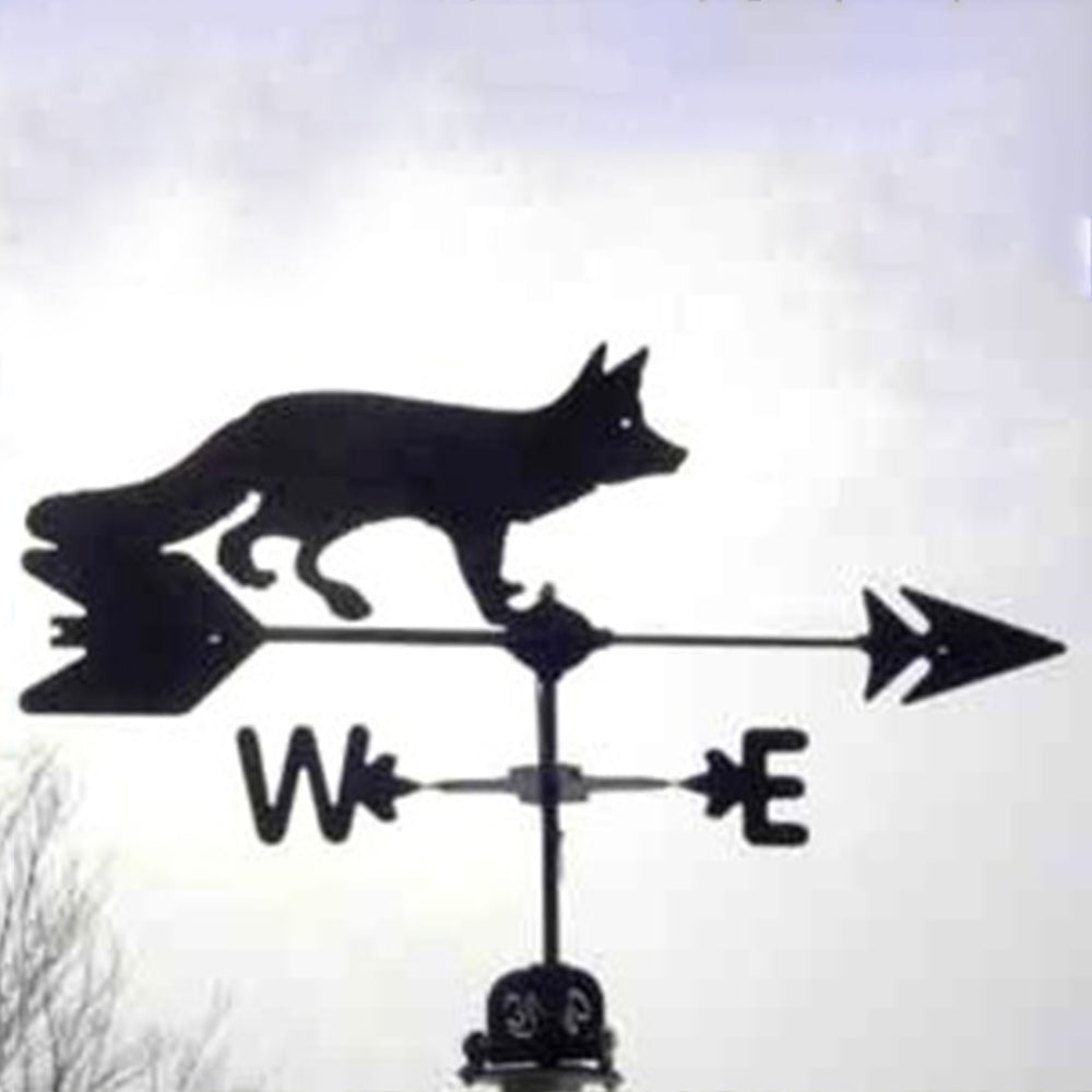 Bushy Tailed Fox Silhouette Steel Weathervane