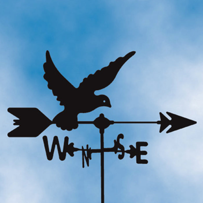 Dove Silhouette Steel Weathervane