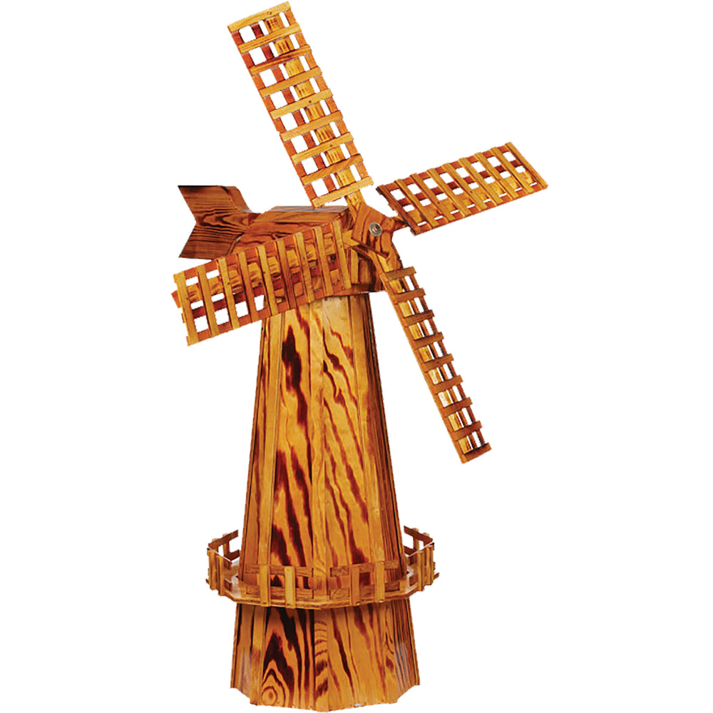 Amish Large Decorative Wooden Windmill