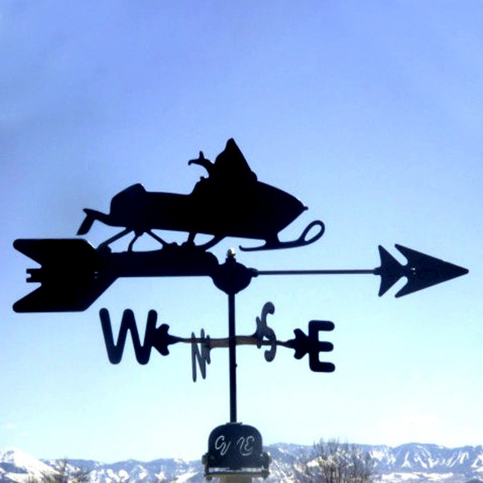 Snowmobile Silhouette Steel Weathervane