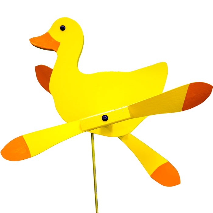 Yellow Duck Whirlybird Wind Spinner