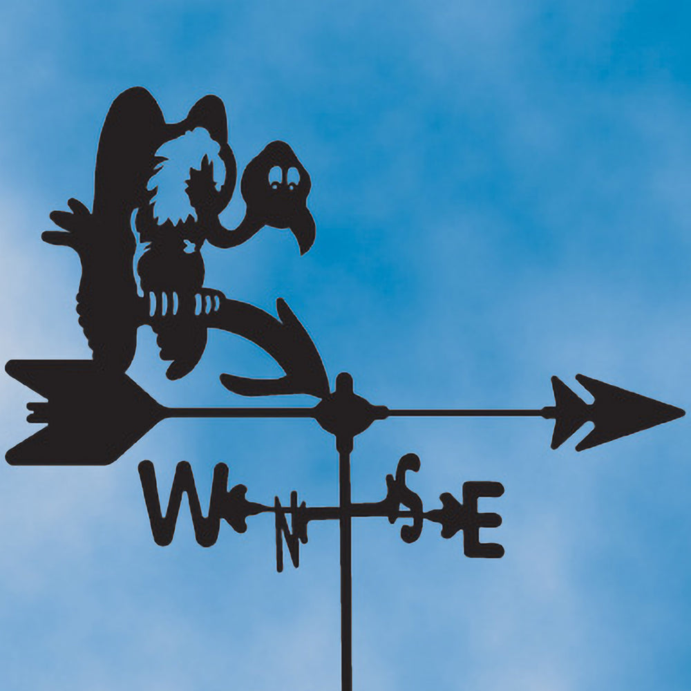 Buzzard Silhouette Steel Weathervane