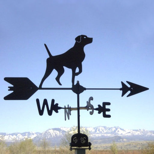 Short Hair Pointer Silhouette Steel Weathervane