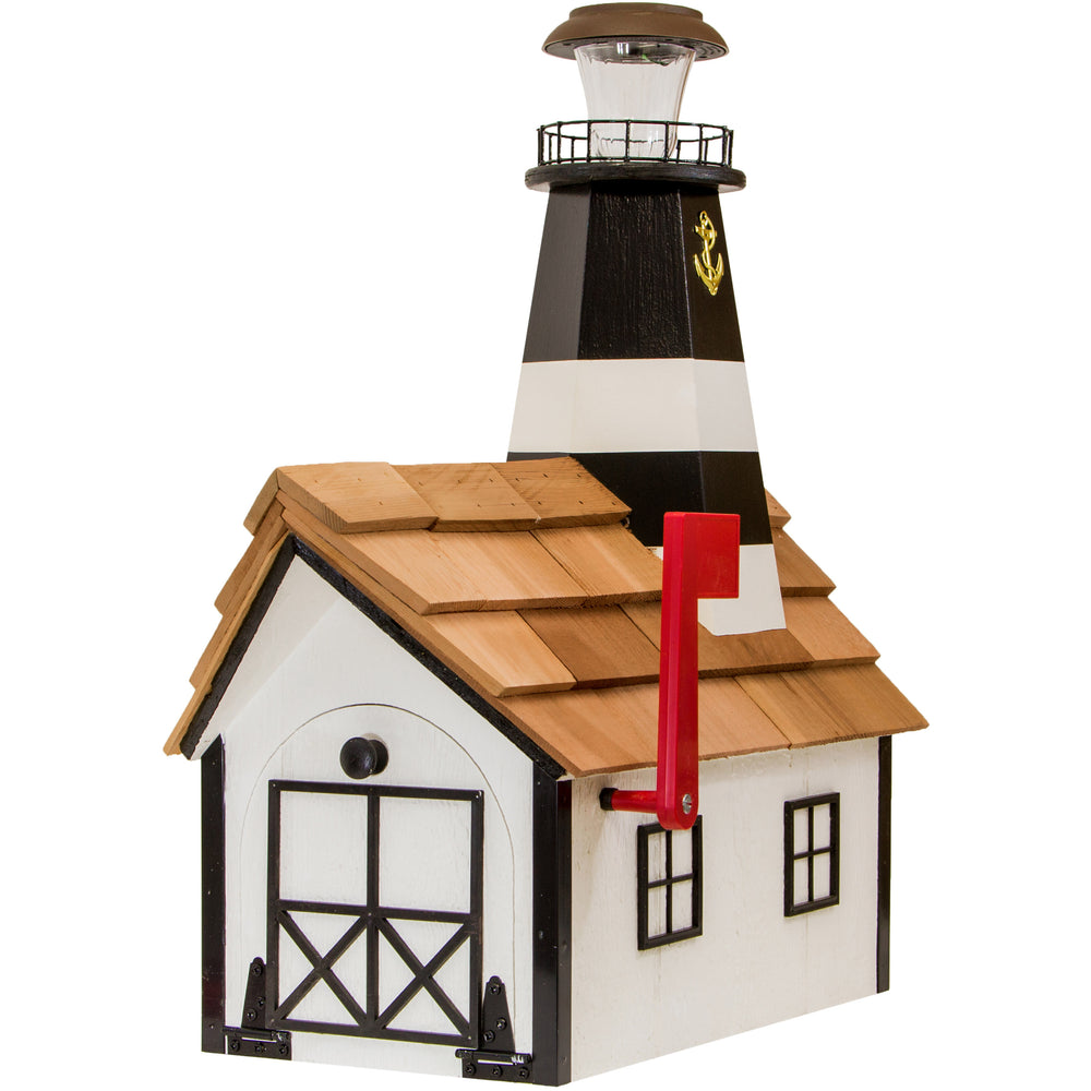 Fire Island Solar Lighthouse Amish Mailbox