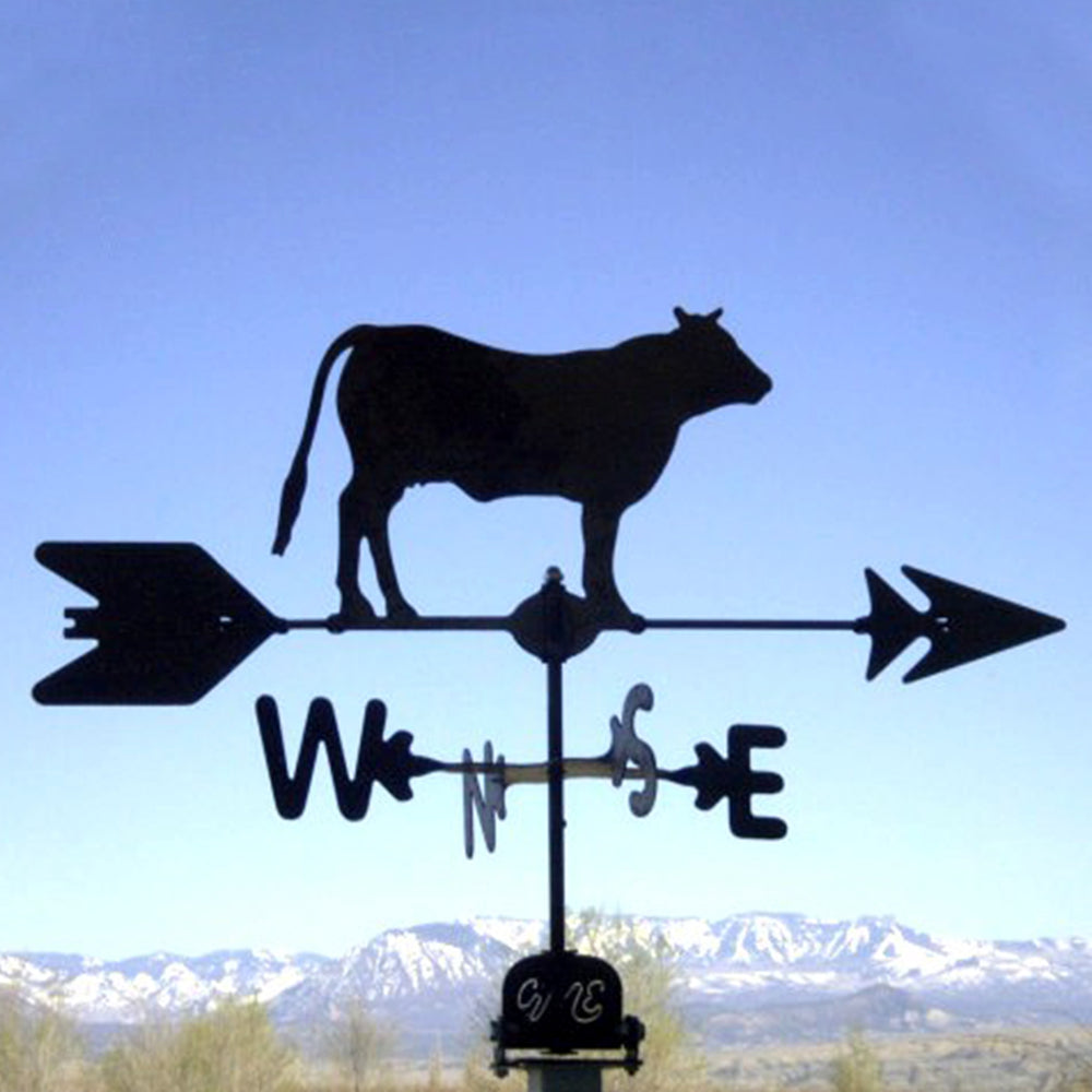 Cow Silhouette Steel Weathervane