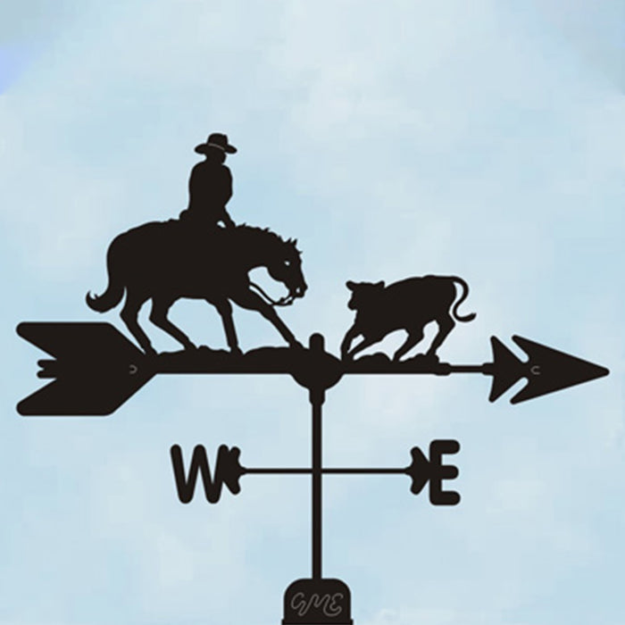 Cutting Horse Silhouette Steel Weathervane