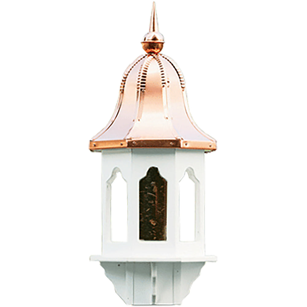 Amish Copper Bell Top 29ʺ Vinyl Bird Feeder
