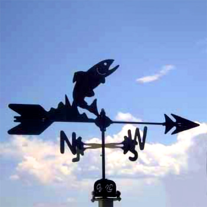Trout Silhouette Steel Weathervane
