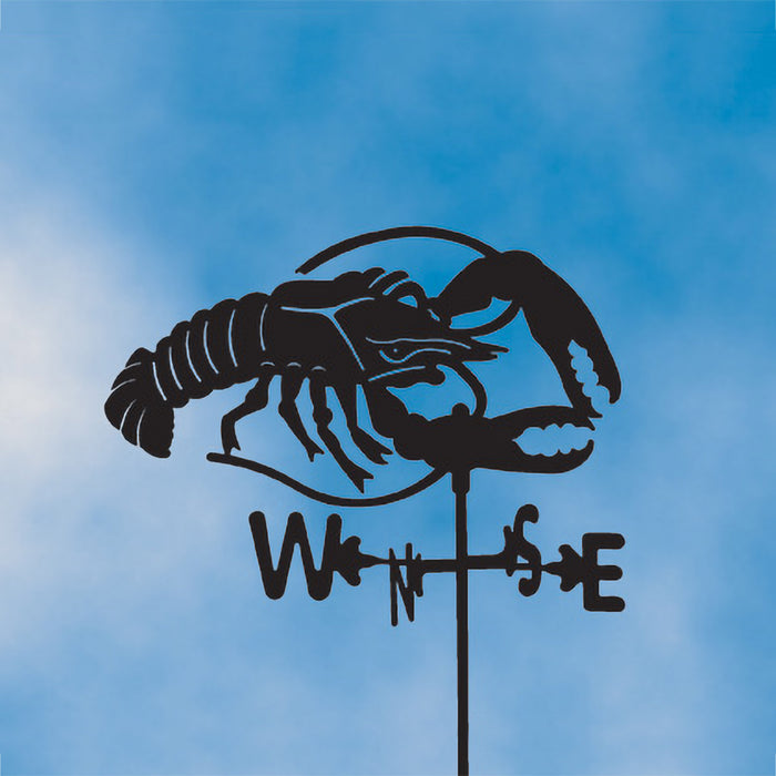 Lobster (without Arrow) Silhouette Steel Weathervane