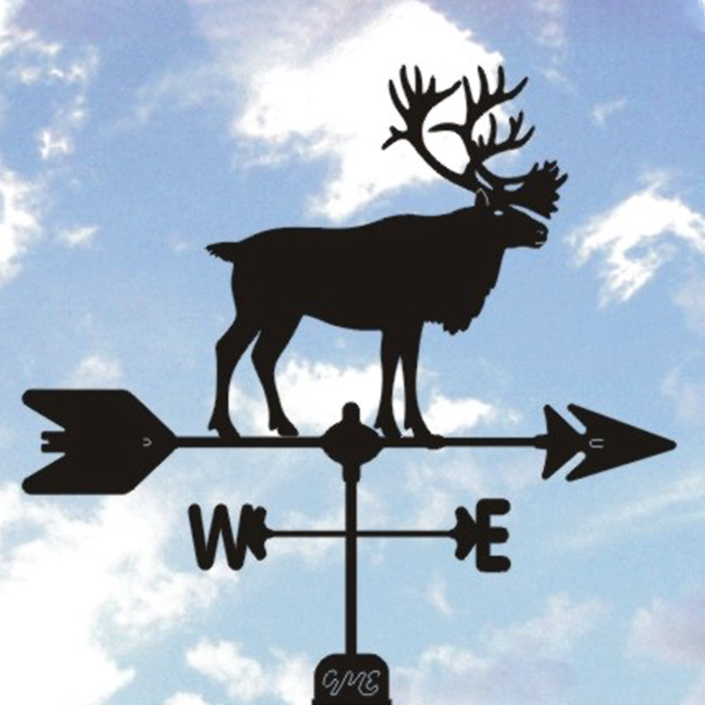 Caribou Silhouette Steel Weathervane
