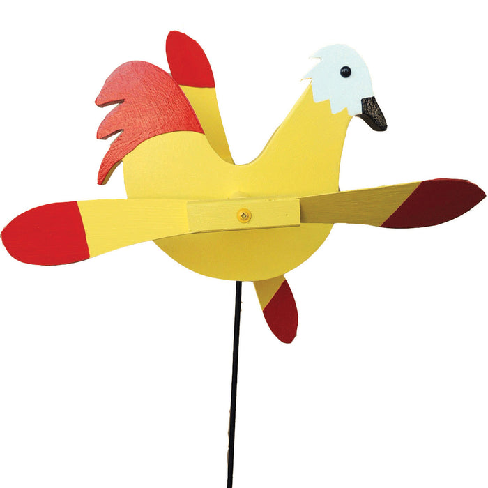 Yellow Chicken Whirlybird Wind Spinner