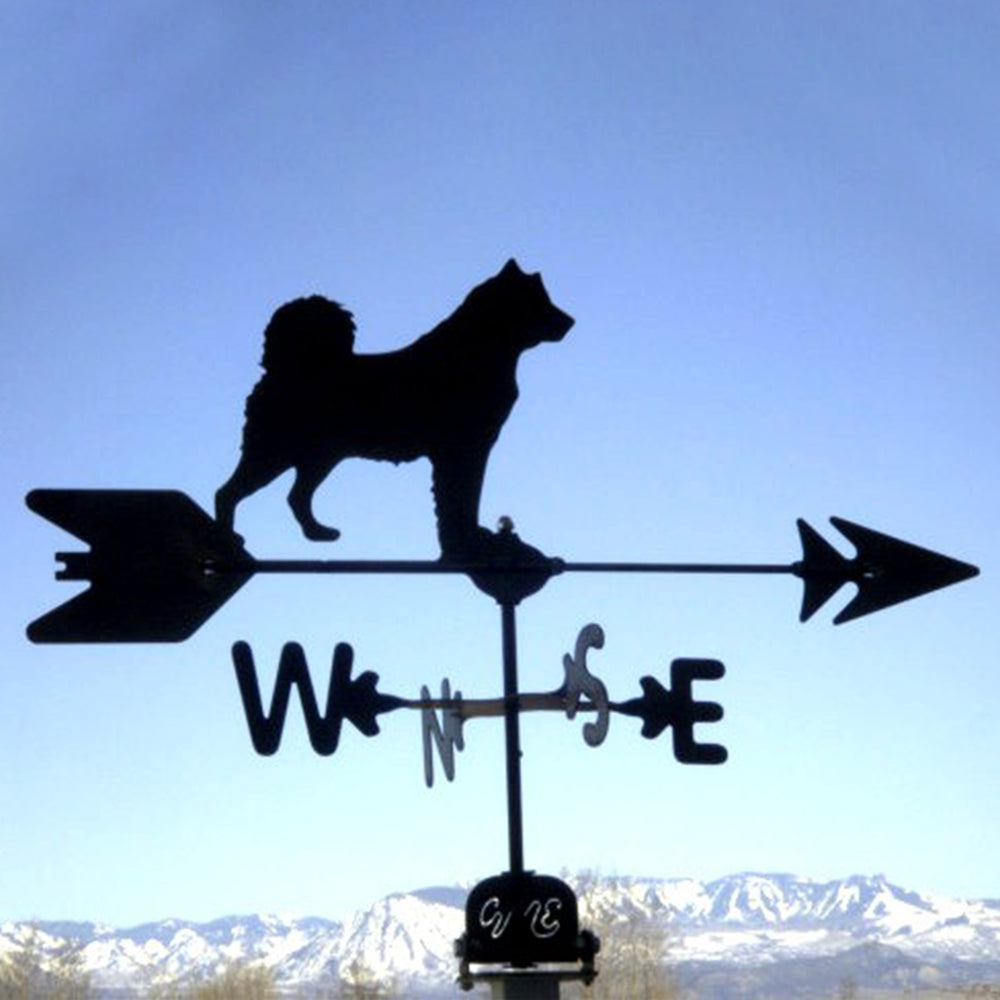 Huskey Silhouette Steel Weathervane