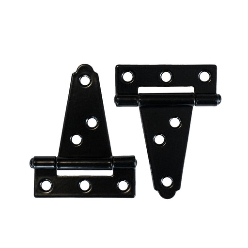 2-Pack Replacement Black Metal Hinges for Mailbox