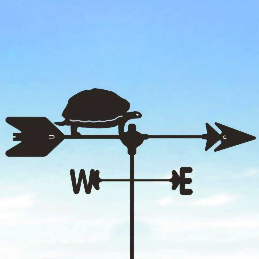 Turtle Silhouette Steel Weathervane