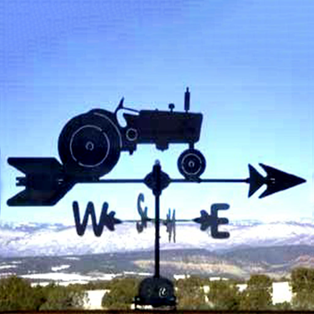 Tractor Silhouette Steel Weathervane