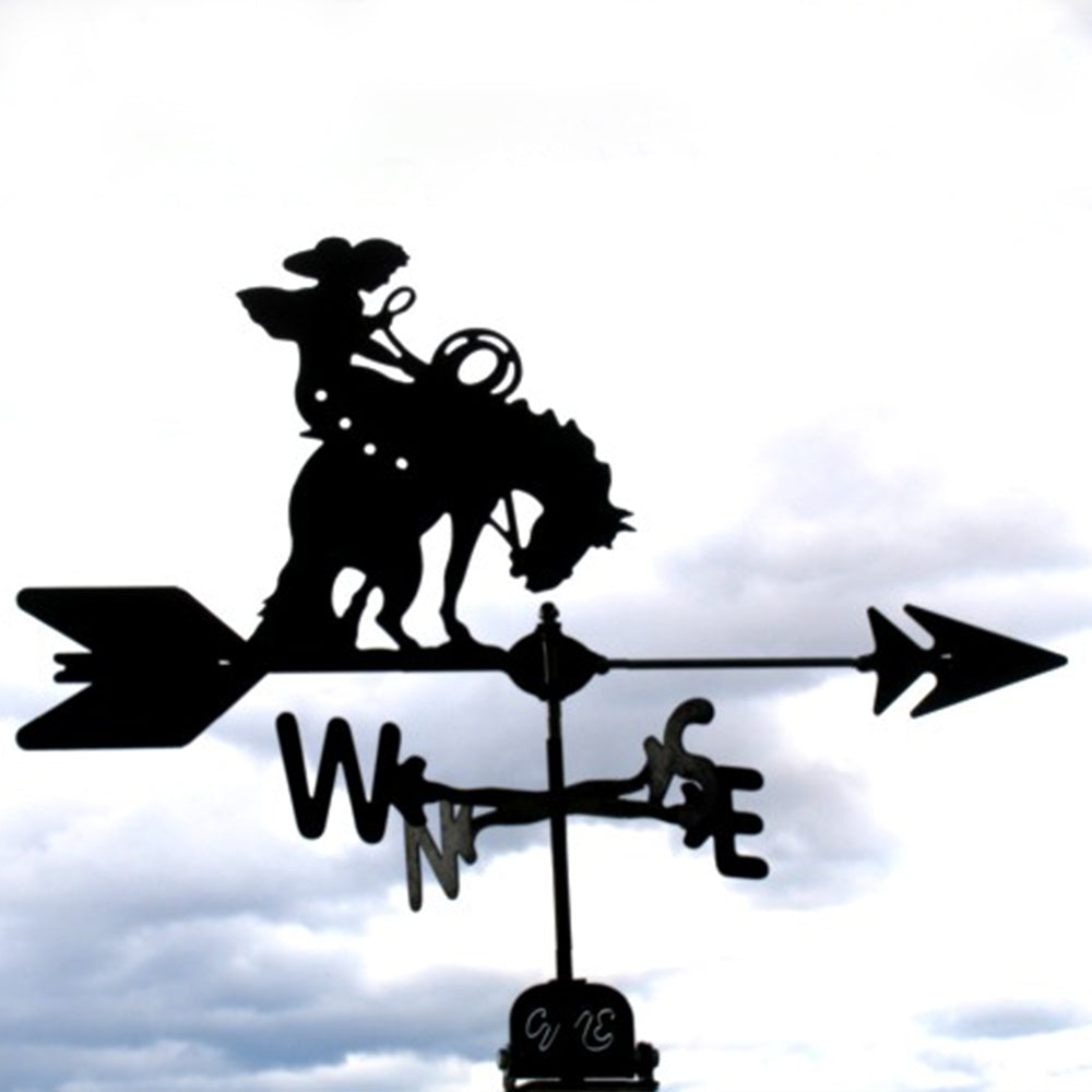 Bucking Horse Silhouette Steel Weathervane