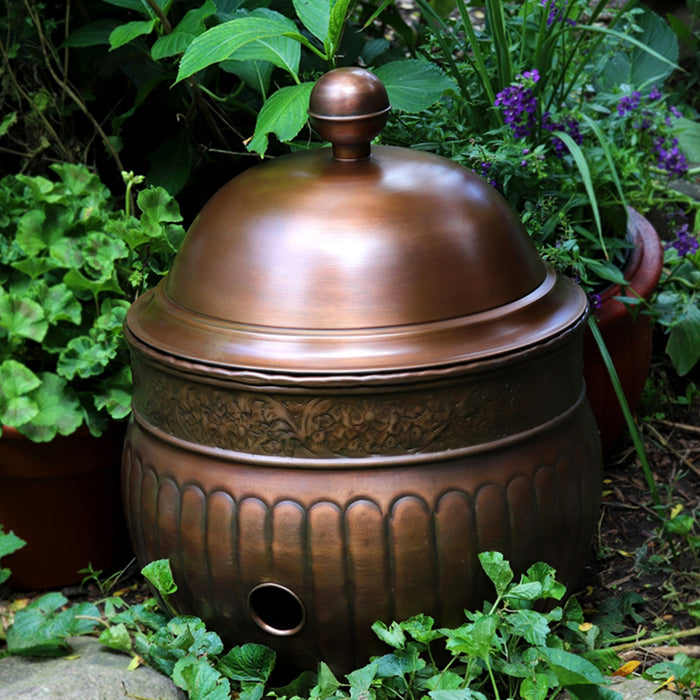 Copper Finish La Jolla Hose Pot with Lid