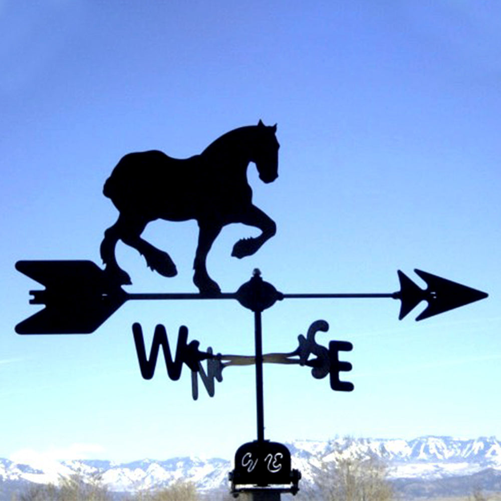 Clydesdale Horse Silhouette Steel Weathervane