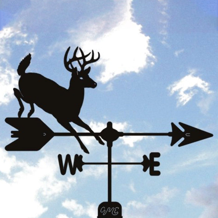 Whitetail Deer Silhouette Steel Weathervane
