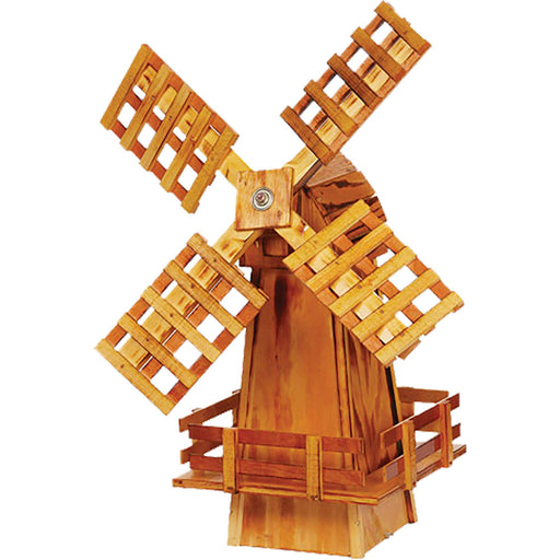 Amish Small Decorative Wooden Windmill