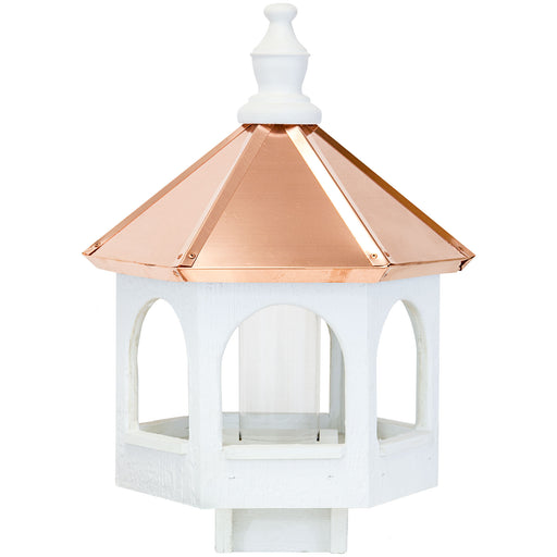 Amish 21ʺ Copper Roof Wooden Gazebo Bird Feeder