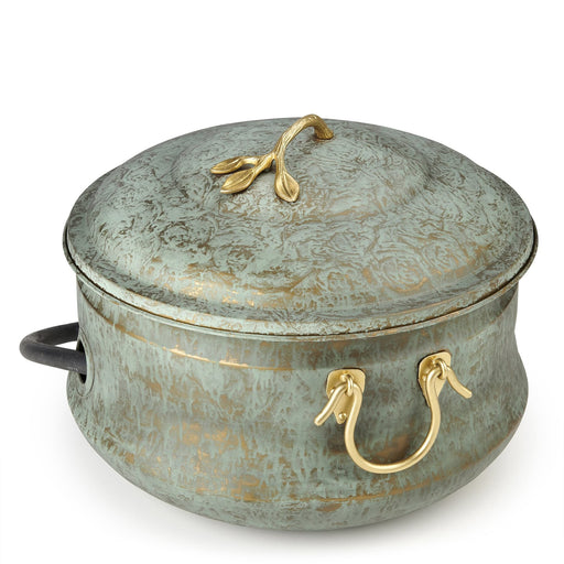 Brass Patina Sedona Hose Pot with Lid