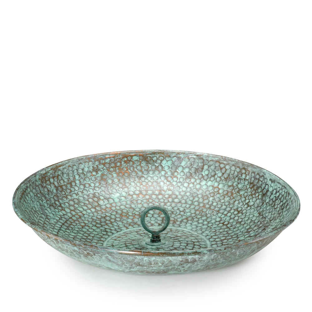 Blue Verde Copper Rain Chain Basin