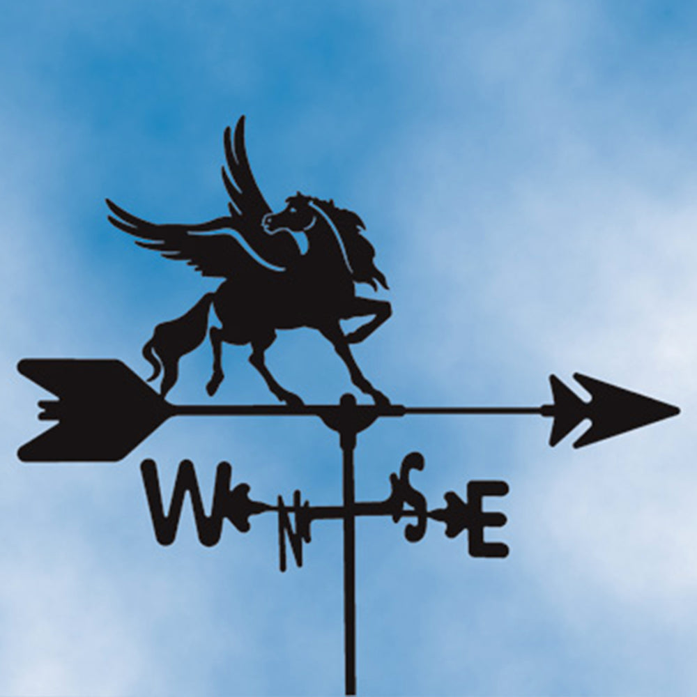 Flying Horse Silhouette Steel Weathervane