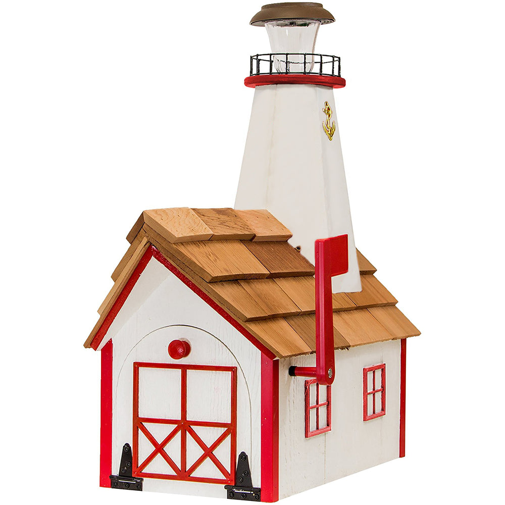 Sandy Hook Solar Lighthouse Amish Mailbox