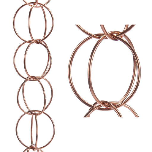Double Link Pure Copper 8.5 Foot Rain Chain