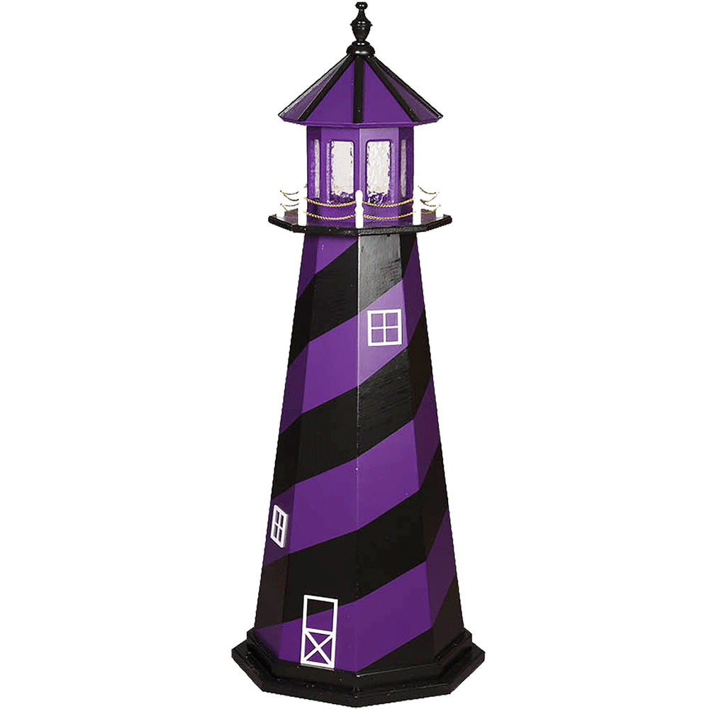 Baltimore Ravens Colors Wooden Lighthouse